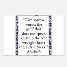 Give Sorrow Words Postcards (Package of 8)