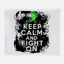 Kidney Disease Keep Calm Fight On Throw Blanket