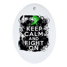 Kidney Disease Keep Calm Fight On Ornament (Oval)