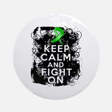 Kidney Disease Keep Calm Fight On Ornament (Round)