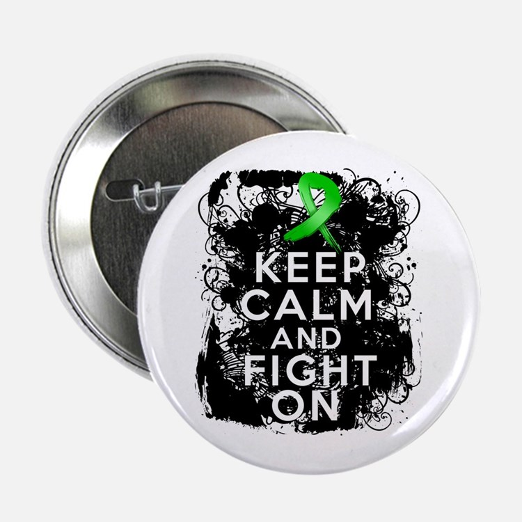 """Kidney Disease Keep Calm Fight On 2.25"""" Button"""