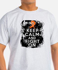 Kidney Cancer Keep Calm Fight On T-Shirt