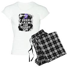 Hodgkins Lymphoma Keep Calm Fight On pajamas