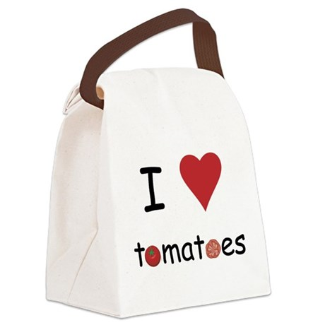 I Love Tomatoes Canvas Lunch Bag