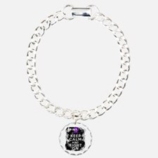 Fibromyalgia Keep Calm Fight On Bracelet
