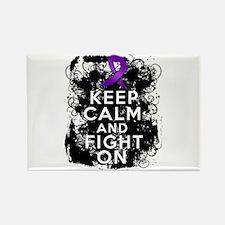 Fibromyalgia Keep Calm Fight On Rectangle Magnet