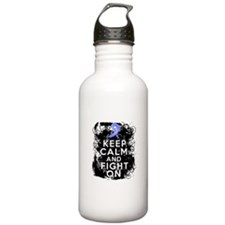 Esophageal Cancer Keep Calm Fight On Water Bottle