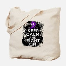 Epilepsy Keep Calm Fight On Tote Bag