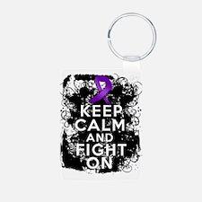 Epilepsy Keep Calm Fight On Keychains