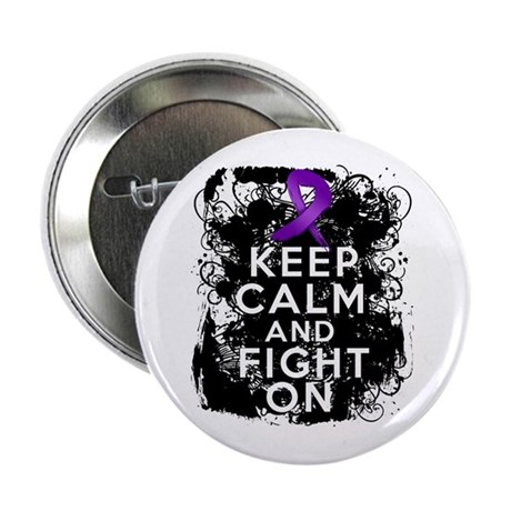 """Epilepsy Keep Calm Fight On 2.25"""" Button"""