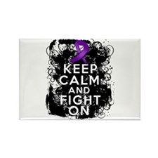 Epilepsy Keep Calm Fight On Rectangle Magnet