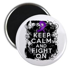 "Epilepsy Keep Calm Fight On 2.25"" Magnet (10 pack)"