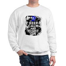 Colon Cancer Keep Calm Fight On Sweatshirt