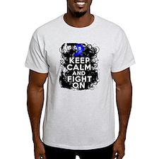 Colon Cancer Keep Calm Fight On T-Shirt