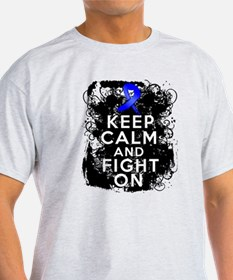 Colon Cancer Keep Calm Fight On T-Shirt