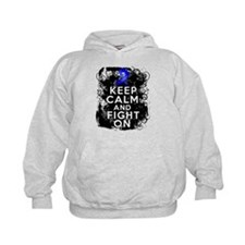 Colon Cancer Keep Calm Fight On Hoodie