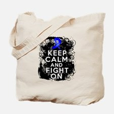 Colon Cancer Keep Calm Fight On Tote Bag