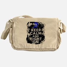 Colon Cancer Keep Calm Fight On Messenger Bag
