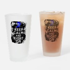 Colon Cancer Keep Calm Fight On Drinking Glass