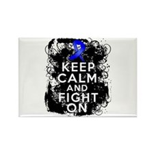 Colon Cancer Keep Calm Fight On Rectangle Magnet (