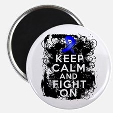 Colon Cancer Keep Calm Fight On Magnet