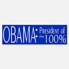 President of the 100% Bumper Bumper Sticker