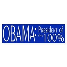 President of the 100% Bumper Sticker