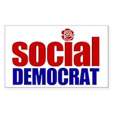 Social Democrat Rectangle Decal