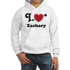 Personalized Couples Heart Hooded Sweatshirt