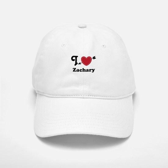 Personalized Couples Heart Baseball Baseball Cap