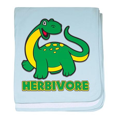Herbivore Dinosaur baby blanket