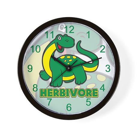 Herbivore Dinosaur Wall Clock
