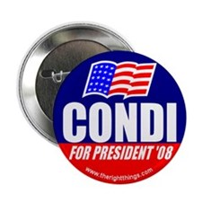 "Condi Rice For President 2.25"" Button (10 pack)"