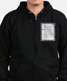 How Far That Little Candle Zip Hoodie (dark)