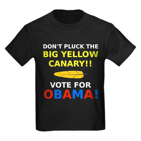 Big Yellow Canary Kids Dark T-Shirt