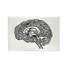 Science Geek Brain Rectangle Magnet