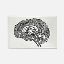 Science Geek Brain Rectangle Magnet