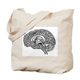 Brain Canvas Totes