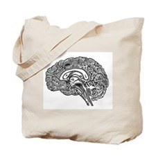 Science Geek Brain Tote Bag