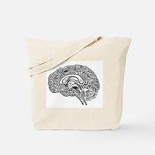 Science Geek Brain Tote Bag