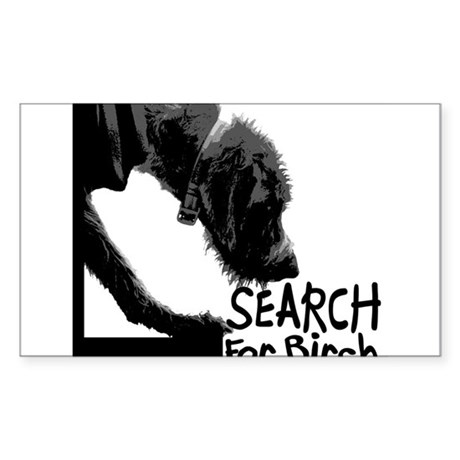 Search birch odor scent nose work Sticker (Rectang