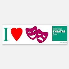 I Love Theatre Bumper Bumper Sticker