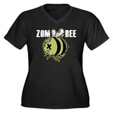 Zombee Women's Plus Size V-Neck Dark T-Shirt