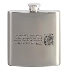 Ronald Reagan Explains the Debt Crisis Flask