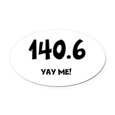 Cute Triathlons Oval Car Magnet