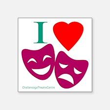 """I Love Theatre Square Sticker 3"""" x 3"""""""