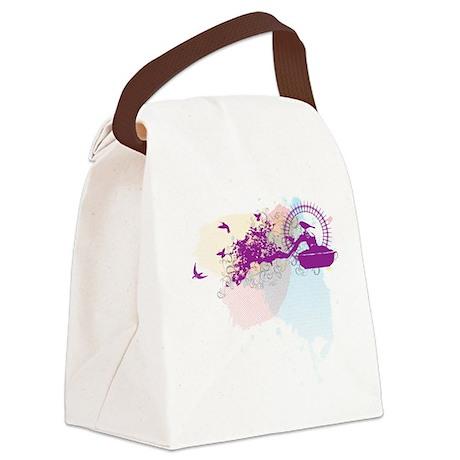 bonsaiWHITE.png Canvas Lunch Bag
