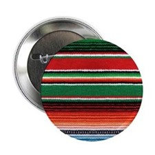 "Mexican Sarape Design 2.25"" Button"
