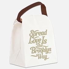 brooklynspreadloveTAN.png Canvas Lunch Bag