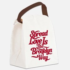brooklynspreadloveRED.png Canvas Lunch Bag